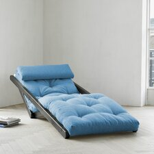 Fresh Futon Figo with Wenge Frame in Horizon Blue