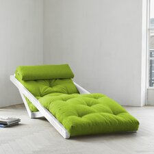Fresh Futon Figo with White Frame in Lime