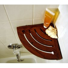 Spa Teak Suction Corner Shelf