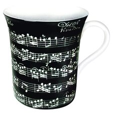Art Vivaldi Libretto Mug in Black (Set of 4)