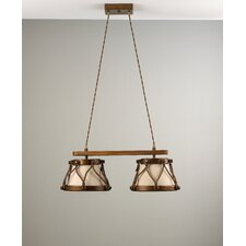 Rustik Tambor 120V Two Light Chandelier