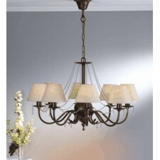 Classic Missangas Eight Light Chandelier