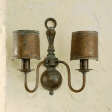 Classic Old 2 Light Wall Sconce with Arm