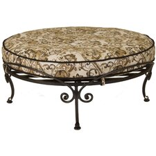 Ashbury Round Ottoman with Cushion