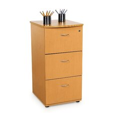 Three Drawer File with Lock