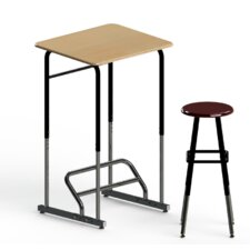 Stand-Biased Height Adjustable Classroom Desk (Kindergarten - 4th Grade)