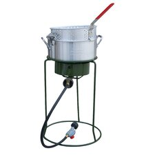 Single Basket Outdoor Cooker and Fryer with Single Burner