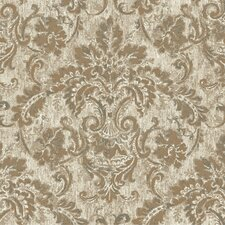 French Dressing Antique Damask Wallpaper