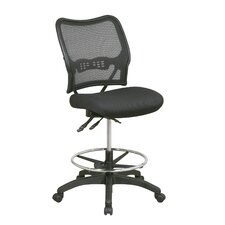 Air Grid Back and Mesh Seat Space Deluxe Ergonomic Drafting Chair