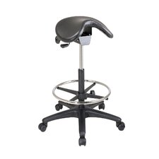 Height Adjustable Backless Stool with Saddle Seat