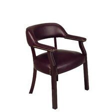 Open Box Price Low Back Traditional Guest Chair in Brown with Arms