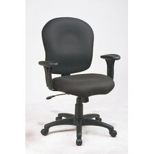 Sculptured Mid-Back Task Chair with Arms