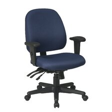 Ergonomic Mid-Back Office Chair with Arms