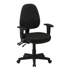 Mid-Back Dual Function Ergonomic Office Chair with Adjustable Arms