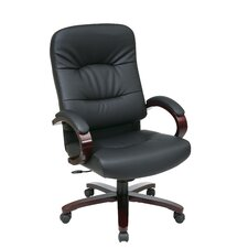 High-Back Eco Leather Executive Office Chair with Arms