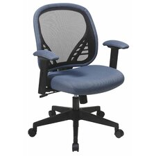 Space Seating Mid-Back Mesh Managerial Chair with DuraGrid