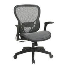 Deluxe R2 SpaceGrid® Seat and Back Chair with Flip Arms and Nylon Base