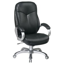 Work Smart High-Back Executive Chair with Padded Arms