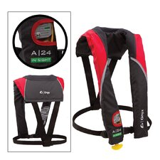 A/M 24 In-Sight Automatic Inflatable Life Jacket in Red