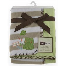 Just Born 2 Ply Frog Reversible Blanket