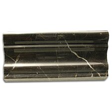 "Stone Accents 1-1/8"" x 12"" Polished Chair Rail in Emperador Dark"