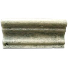 "Stone Accents 1-1/8"" x 12"" Polished Chair Rail in Ming Green"