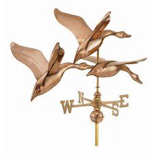 3 Geese in Flight Estate Weathervane with Roof Mount