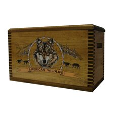 "Wooden Accessory Box With ""Wildlife Series"" Wolf Print"