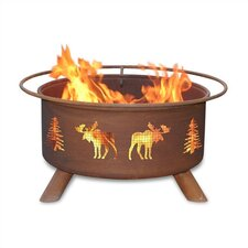Moose and Tree Fire Pit