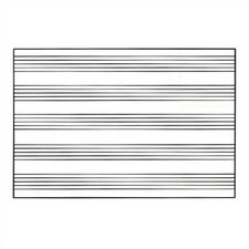 Graphics Markerboards - Music Staff Lines 4' x 8'