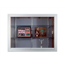 Series 70 Recessed Hinged Glass Door Trophy Cases - Vinyl Fabric (With Lighting)
