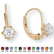 Gold Genuine Birthstone Earrings