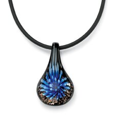 Sterling Silver Multi-Colored Glass Pendant
