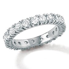 Sterling Silver Cubic Zirconia Classic Eternity Band