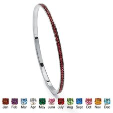 Birthstone Eternity Bangle Bracelet