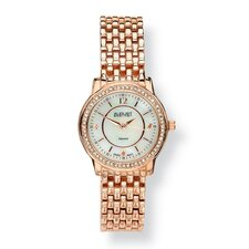 Diamond Accent Panther Link Watch