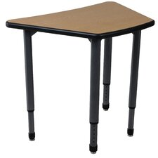 Adjustable Height Student Desk with Teach-It
