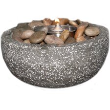 Rock Stone Tea Light Candle Holder