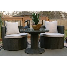 Geo-Vino All Weather Wicker Lounge Seating Group with Cushions