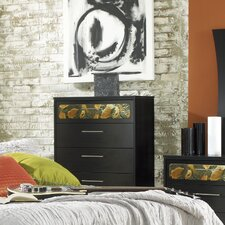 Black Earth with Roller Glides 5 Drawer Dresser