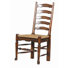 English Country Mahogany Ladderback Side Chair