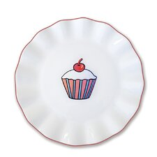 Everyday Cupcake Stripes Plate
