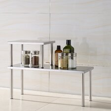 Stainless Steel Square Corner Storage Shelf