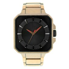 Men's Platform Watch with Black Dial