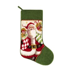 Mr. Claus with Stocking Needlepoint Stocking