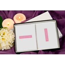 Color Block Personalized Stationery Card Set