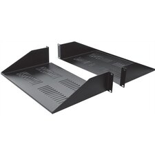"25""D 2-Piece Double-Sided Vented Divided Shelf - 2 RU"