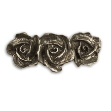 Fruits of Nature Three Roses Pull in Distressed Pewter Matte