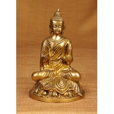 Brass Series Buddha Statuette on Lotus