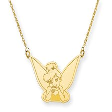 Gold-plated SS Disney 18inch Tinker Bell Necklace